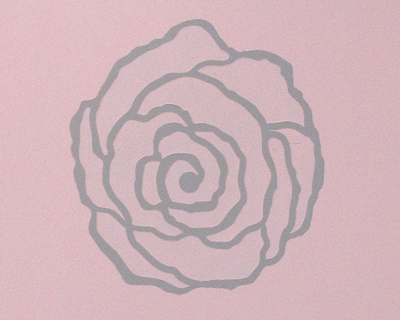 Rockin Rose Modern Floral Wall Art Stencils for Painting Walls and DIY Crafts