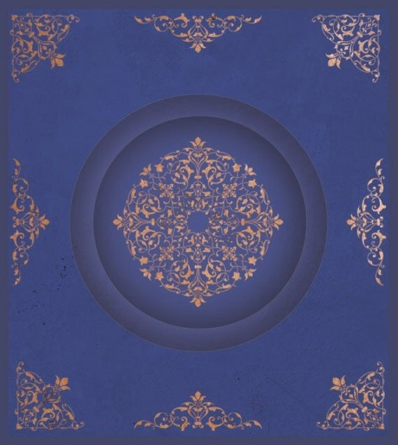 Arabesque Ceiling Stencil Set For Ceiling Wall Decor And More - ceiling stencils for walls designs