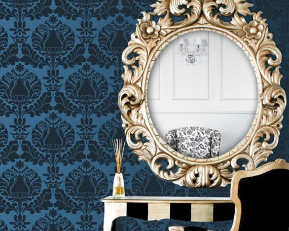 Wall Stencil Small Corsini Damask Stencil for Wall Decor and More