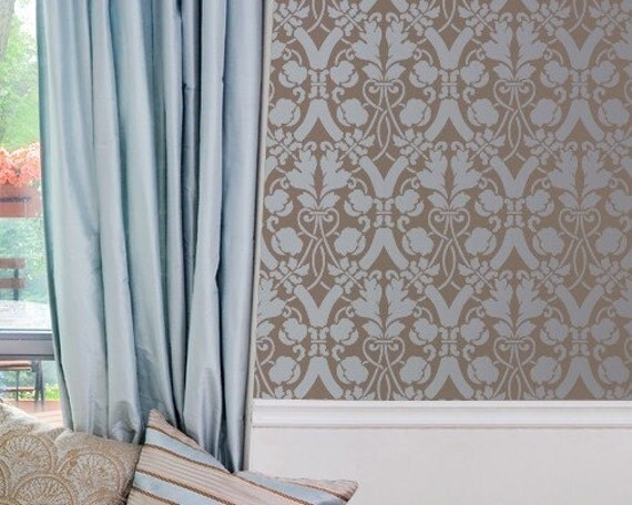 Large Entwined Trellis Stencil for Wall Decor and More