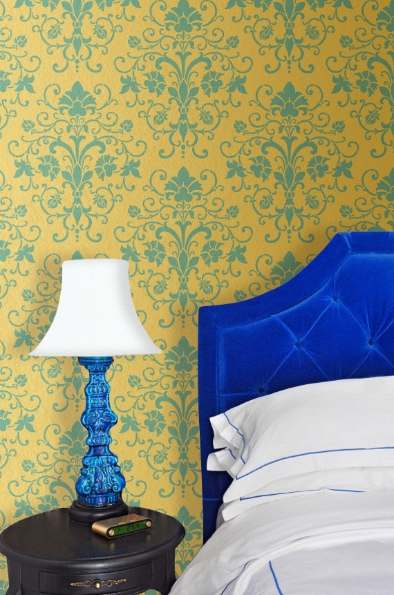 Damask Wall Stencil Elegancia Allover Stencil for Lovely Painted Wallpaper Effect