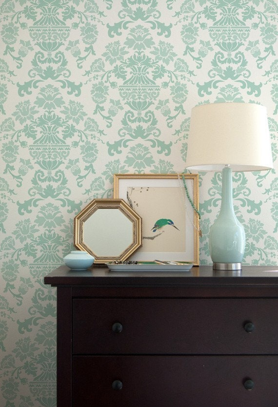 Wall Stencil Encantada Damask Allover Stencil for Wall Decor and More
