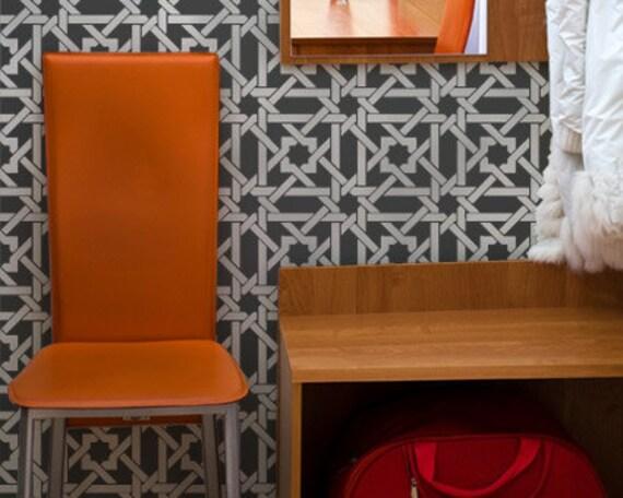 Wall Pattern Stencil Camel Bone Weave for DIY Wall Decor
