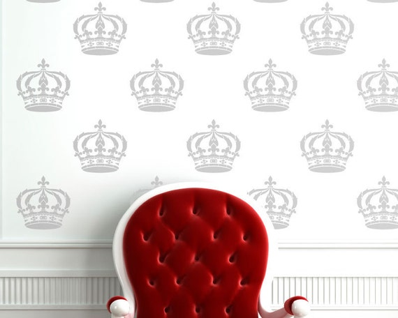 Cool Crown Stencil for Wall and Furniture Stenciling instead of a Decal