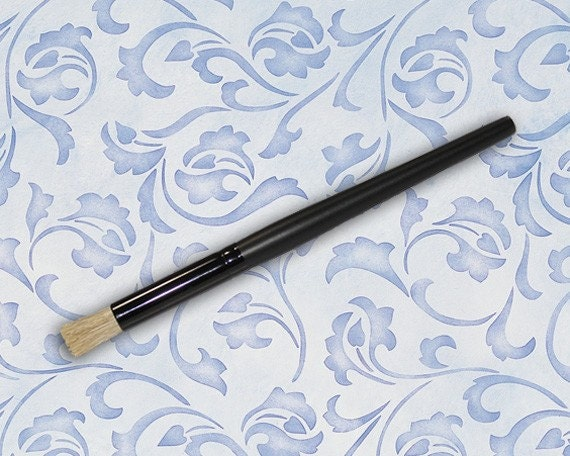 Brush Design For Wall : Stencil brush for wall decor