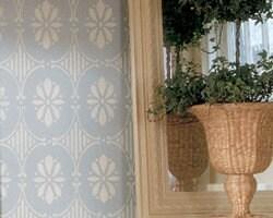 Wand muster schablone schwedische florale allover schablone - Wand muster schablonen ...