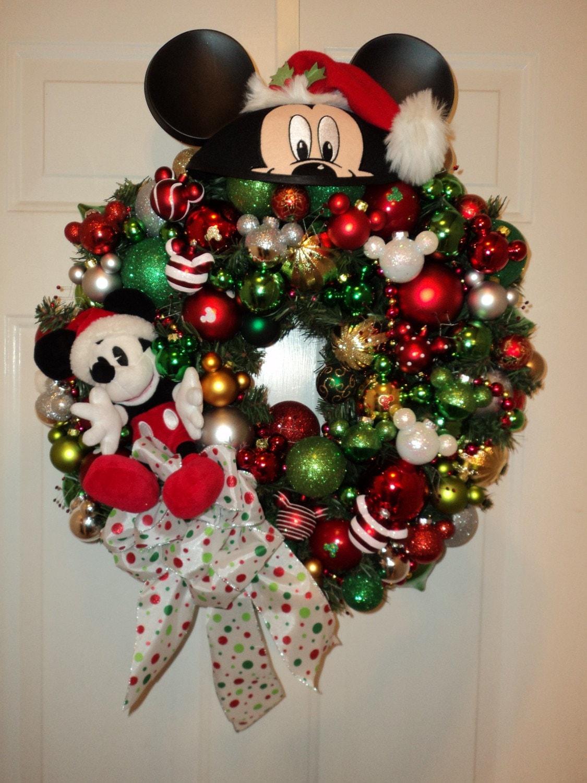 Disney Mickey Mouse Hat Christmas Wreath Custom Order Final