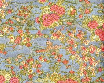 Blue and Pink Glittering Japanese Yuzen Chiyogami Washi Paper