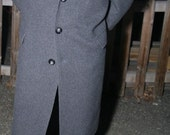 Gentlemens Wool and Cashmere Blended Trench Overcoat