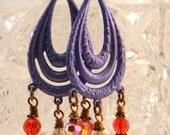 Vintage Earrings, OOAK Earrings, Statement Earrings, Boho, Bohemian Earrings