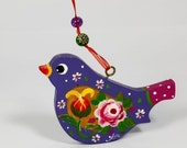 Handpainted Wooden Bird Decoration