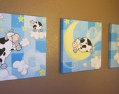 The Cow Jumped Over the Moon - Canvas paintings made to order