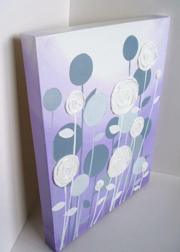 wall art lavender purple and grey modern nursery art. Black Bedroom Furniture Sets. Home Design Ideas