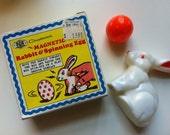Vintage Rabbit & Spinning Egg
