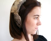 ON SALE. Vintage Rabbit Fur Ear Muffs. 1960s. Winter Headband.