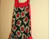 Two Burp Cloths And Bibs In One, With Pockets, Little Ladybug