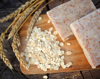 Honey Oat and Wheat Bran Soap - natural soap made with honey and beeswax from our own hives