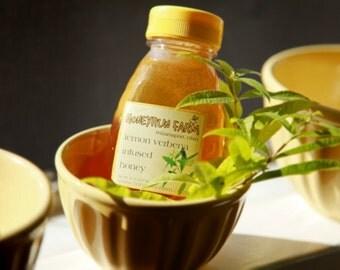 Lemon Verbena Infused Honey - 16 ounce jar