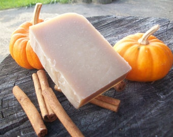 Pumpkin Spice Soap - natural soap made with honey and beeswax