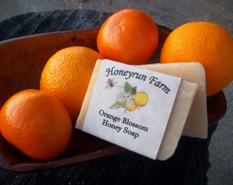Orange Blossom Honey Soap - natural soap made with honey and beeswax