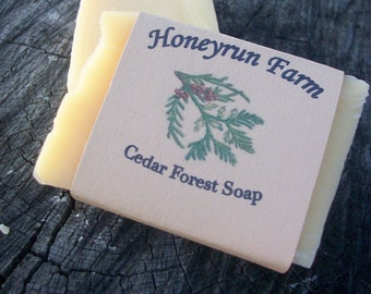 Cedar Forest Soap - natural soap made with honey and beeswax