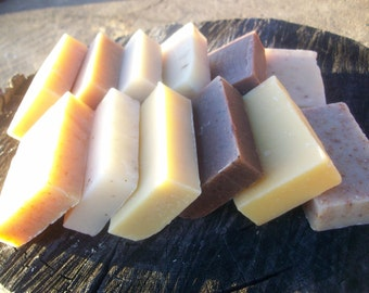Handcrafted Soap- 6 soaps-  made with honey and beeswax, any six soaps from our shop