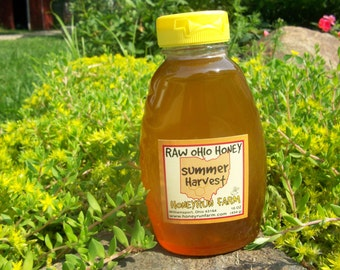 Pure Raw Summer Honey - 16 ounce jar