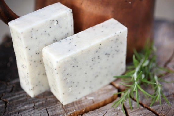 Gardener's Soap - natural soap made with beeswax and honey, rosemary and eucalyptus scented
