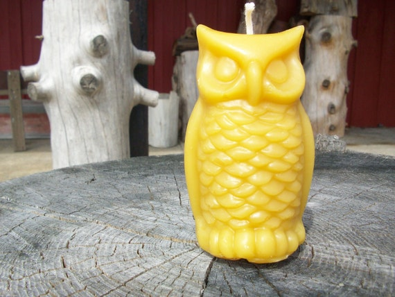 Beeswax Candle- Owl shaped