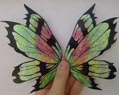 OOAK EARTH TONE Butterfly Fairy Barbie Bear 3D Iridescent Wings
