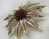 Starburst Sunflower Brooch Sarah Coventry Pendant Pin