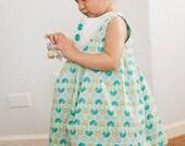 Palm Sunday Matilda Summer Dress - Beautiful dress with Tuxedo Style Bib -  12m, 18m, 2t, 3t, 4t