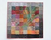 """Aurora, 62"""" x 62"""" art quilt, Stacie Mann"""