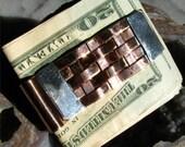 Basket Weave Copper Money Clip