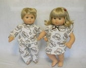 15 inch Doll Clothes American Girl Bitty Twins - Monkey PJ's