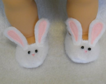 15 inch Doll Clothes for the Bitty Twins - Bunny Slippers