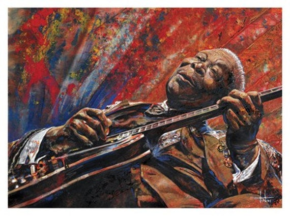 B.B. KING, art print of oil painting, King of the blues