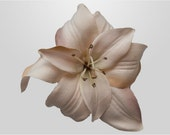 Beige Lily Hair Clip