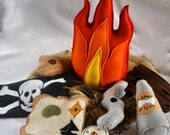 Felt Pirate Campfire,Shipped Wrecked,Beaches,Driftwood,Imaginary Play