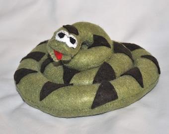 Sale Price Reduced Kids Felt Plush Pretend Woodland Snake