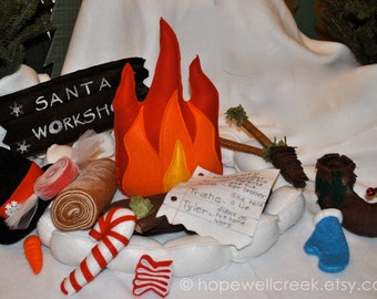 Santa's Elves Campfire,North Pole,Santa Claus, The Night Before Christmas,Rudolph,Santa's Workshop,Candy Canes,Naughty or Nice List, Frosty