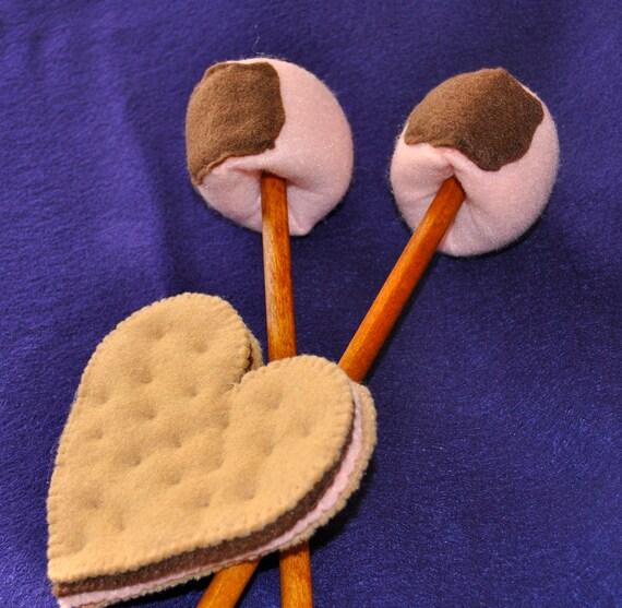 Felt Food Valentine's Day, Heart Cookie