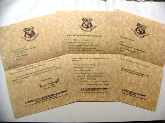 harry potter letters harry potter hogwarts acceptance letter 22097 | il 570xN.243439717