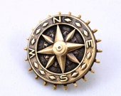 Steampunk Hat Pin Steam Punk Pin Compass Rose Brooch Pin Steampunk Top Hat Pin Pirate Costume Steampunk Jewelry by Victorian Curiosities