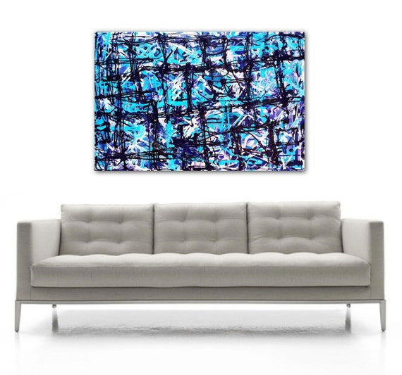 ON SALE HUGE Abstract Art By Jenny Miller 24x36