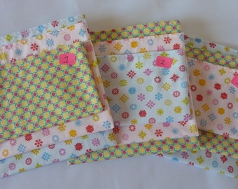 SALE!!!! Eco Friendly RE-USABLE Bags- Set of 3- Pastel Little Things