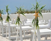 Beach Wedding Aisle Chair Decoration-Beach Wedding Starfish Decoration-Beachy Wedding Sand Dollar Decoration-Wedding Arch Decor-Annie Gray
