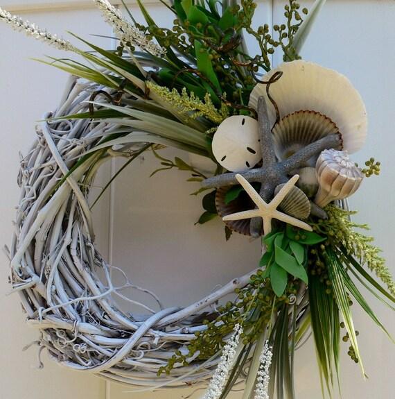 Beachy Wreath with Shells Shells Shells
