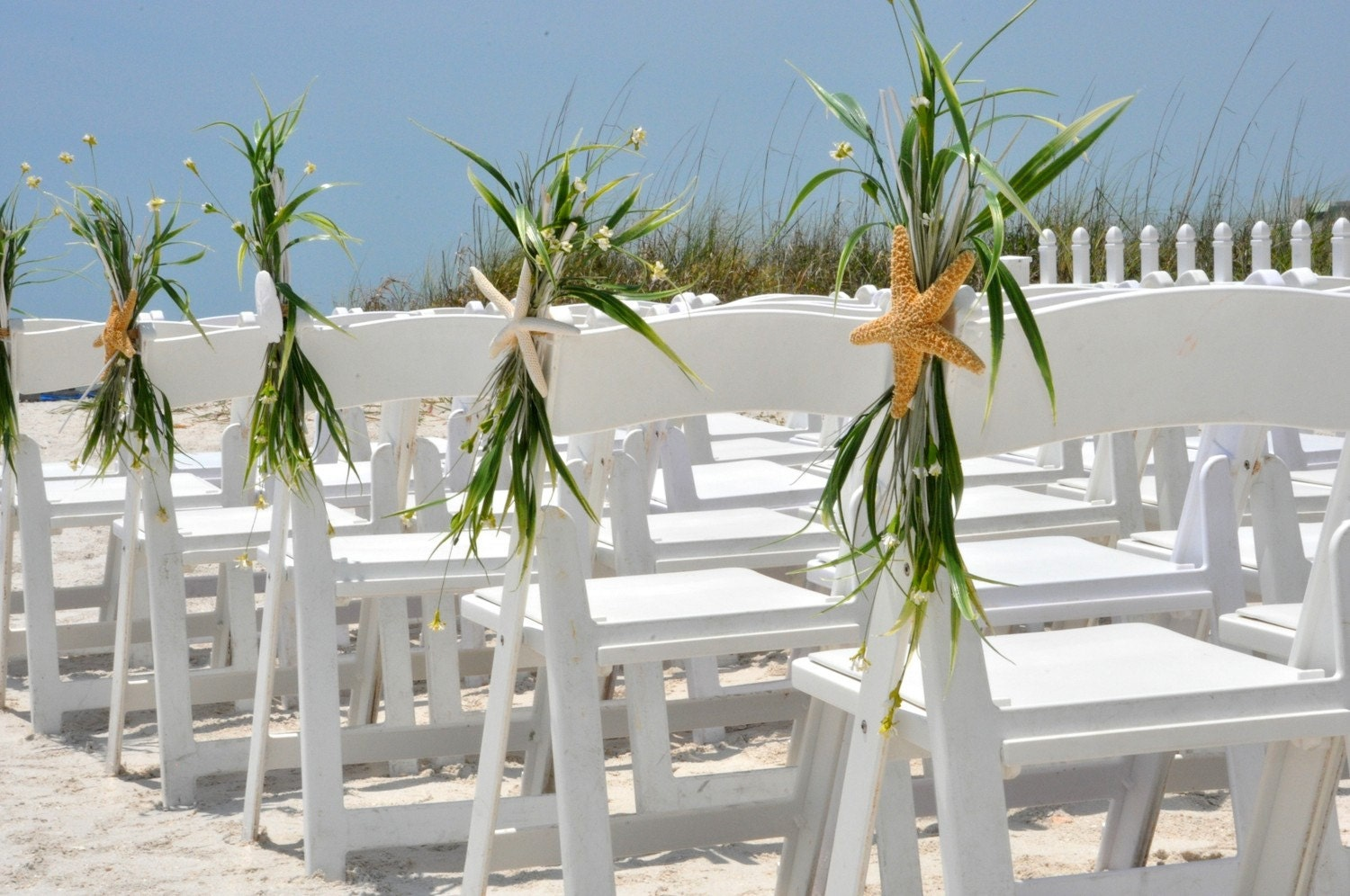 wedding decorations beach theme wedding aisle chair decoration wedding starfish 9083