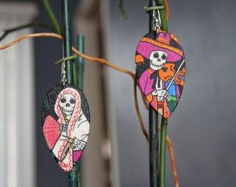 Sugar Skull Earrings Day of the Dead (Dia De Los Muertos)
